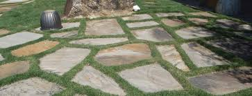 flagstone patio with grass. STONE WORK Flagstone Patio With Grass