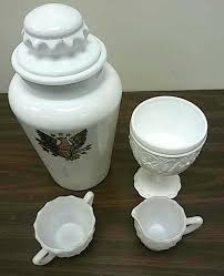 milk glass jars vintage