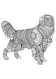 Small Picture 196 best Cats Dogs Coloring For Adults Art Pages images on