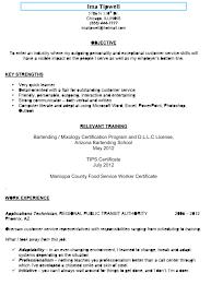 Bartending Resume Cover Letter Bartending Resume Sample Ima Tipwell