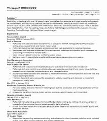 Reconciliation Analyst Resume Sample Analyst Resumes Livecareer
