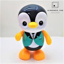 เพนกวินเต้น ใส่ถ่านมีเสียงมีไฟ Swinging Penguins(17178)