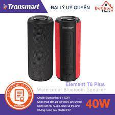 Mã ELMS4 giảm 7% đơn 500K] Loa Bluetooth Tronsmart Element T6 Plus Loa di  động 40W, Chống nước IPX7, kiêm sạc dự phòng