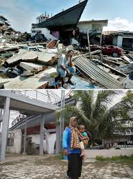 essay on tsunami boxing day tsunami how the earthquake became  remembering the tsunami in banda aceh the times residents of leupung in s aceh province carry