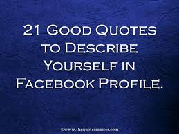 Quotes About Yourself For Facebook