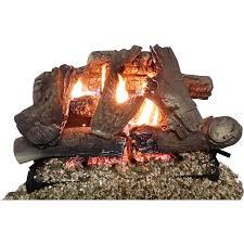thermablaster 17 71 in 38000 btu dual burner vented gas fireplace logs