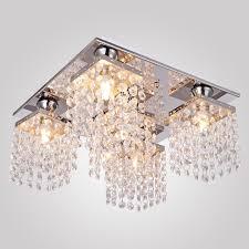 Flush Ceiling Light Fixtures Modern Lightess Crystal Chandelier Ceiling Light Fixture Modern