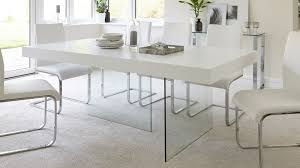 glass dining furniture. Large White Wooden Dining Table Glass Furniture O