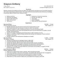 Security Resume Objective Examples Law Enforcement Resume Objective Criminal Justice Resume Objective