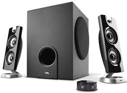 speakers under 10. this is sleek and elegant speaker system that deliver quality sound besides being very space-efficient. the whole comes with a subwoofer two speakers under 10