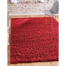 area rug solid cherry red 8 ft x 10 ft area rug
