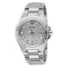 bulova silver dial diamond stainless steel men s watch 96e114 bulova silver dial diamond stainless steel men s watch 96e114