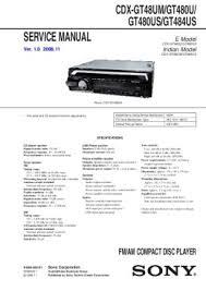 solve sony cdx gt150 problem Sony Cdx Gt210 Wiring Diagram service manual e model diagramasde com sony cdx gt200 wiring diagram