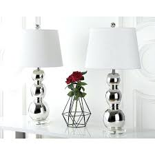 silver table lamps lighting inch three sphere glass silver table lamp set of 2 silver table