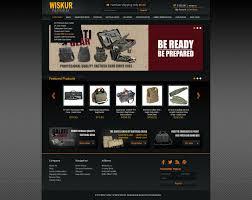 Miva Merchant Web Design Wiskur Tactical Home Page Mockup Miva Merchant Ecommerce