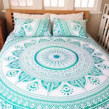 indian decorative mandala duvet cover throw queen quilt doona cover bedding set