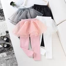 Girl <b>Culottes</b> Fake Two Pieces Of Pure Color Girl Child <b>Pants</b> Tutu ...