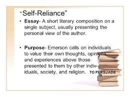 ralph waldo emerson from ldquo self reliance rdquo ppt video online 2 ldquoself reliancerdquo essay