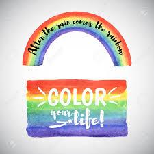 Motivation Templates Watercolor Vector Rainbow Templates With Inspiration Motivation