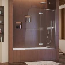 gorgeous design ideas half glass shower door for bathtub home rustic bathtubs