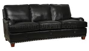 black full italian leather classic 4pc