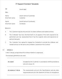 Service Contract Template Free Contract Template Customer Service Contract Template Free Service Contract Agreement