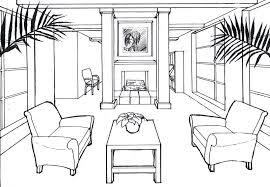 Draw Chair One Point Perspective how to draw a room using one point
