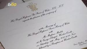 Behold, the most coveted wedding invitation of the century — or at least since the one from prince william and duchess kate's wedding seven years ago. Meghan Markle And Prince Harry Invite 600 Lucky Guests To Royal Wedding See The Invitations 13newsnow Com