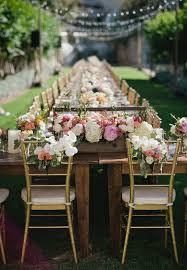 outdoor glam garden wedding long table reception j cogliandro photography