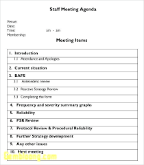 Agenda Format For Board Meeting Sample Template Temp This Business