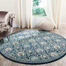 safavieh evoke vintage blue ivory distressed rug 6 7