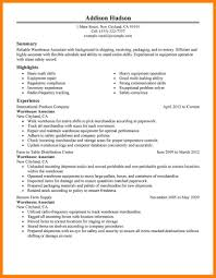 Resume For Warehouse Warehouse Resumes 5 Combination Resume