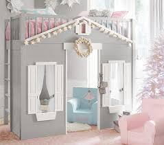 loft beds for kids pottery barn. Beautiful Kids Playhouse Loft Bed To Beds For Kids Pottery Barn