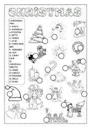 We have a series of free valentine's day worksheets! Christmas Worksheet Esl Worksheet By Ineta