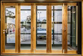 meranti timber bifold door