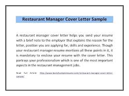 restaurant manager resume cover letter cover letter examples sample cover  letter for hospitality assistant restaurant manager