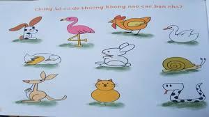 Dạy bé tập vẽ tranh tô màu học vẽ con vật anime theo chữ số từ 1 đến 10