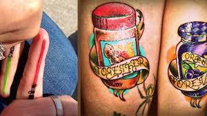 Zamilovanych Paru Tetování Pro Dva