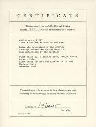 Sample Certificate Of Authenticity For Art Cepoko Com
