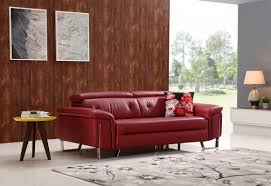 your bookmark products 3 220 00 divani casa t736b modern red leather sofa set