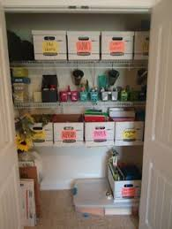 office closet organizer. Organized Home Office Closet. GREAT Blog To Follow! | Organize Anything Group Board Pinterest Organizing, And Organizations Closet Organizer