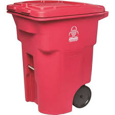 toter 96 gallon. TOTER® 96 GAL. PLASTIC RED MEDICAL WASTE BASKET Toter Gallon