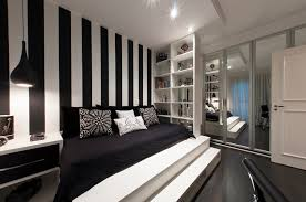 bedroom nice black sofa bed idea with splendid white staircase design also mesmerizing glass closet bedroom awesome black white bedrooms black