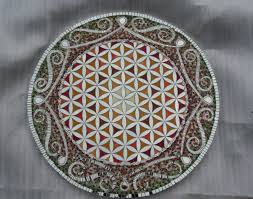 flower of life with mosaic border item 189
