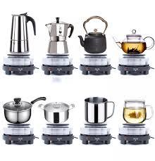 Bếp Điện Mini 500w - 1000w nắp gang bếp điện đa năng pha cà phê pha trà pha  sữa... Phù hợp với tất cả các loại nồi