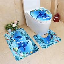 2018 asypets cute creative 3d sea ocean fish shell animals bathroom rug toilet lid cover mat set 25 from aozhouqie 34 26 dhgate com