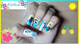 aloha summer nails