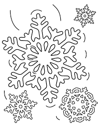 Small Picture Free Snowflake Coloring Page