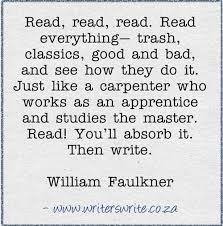 Image result for images william faulkner on reading