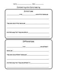 compare and contrast writing and sentence frames writing writing sentence frames graphic organizers simple sentence frames and paragraph organizer for comparing and contrasting paragraphs